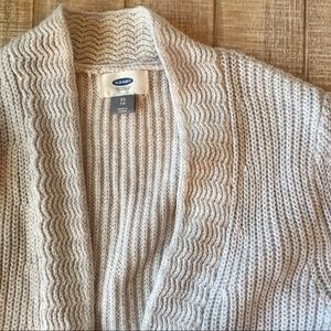Old Navy light gray open sweater